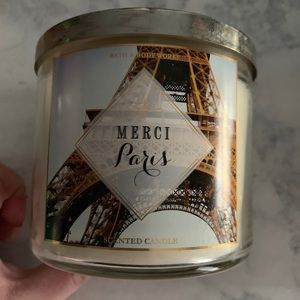 MERCI PARIS 3 Wick Candle Bath & Body Works